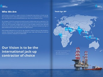 Shelf Drilling ettevõtet tutvustav brošüür