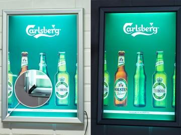 Carlsbergi valgusega Click raam