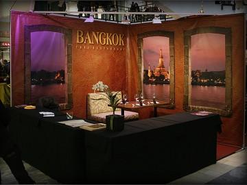 Bangkok restorani stend